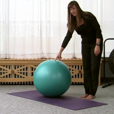 How to Get on a Stability Ball Safely