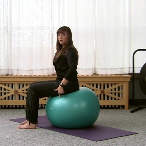 How to Sit on a Stability Ball Safely